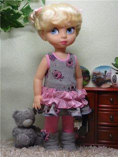 """Комплект одежды для Disney Animators """"Серо-розовый"""" / Одежда для кукол / Шопик. Продать купить куклу / Бэйбики. Куклы фото. Одежда для кукол"""
