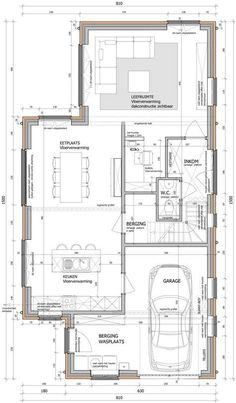 Give Your Rooms Some Spark With These Easy Design Tips – Decoration Inspired Shop House Plans, House Floor Plans, Architecture Plan, Architecture Details, Small House Design, Plan Design, Planer, Building A House, Layout