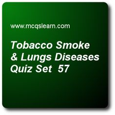 Tobacco Smoke & Lungs Diseases Quizzes: A level biology Quiz 57 Questions and Answers - Practice biology quizzes based questions and answers to study tobacco smoke & lungs diseases quiz with answers. Practice MCQs to test learning on tobacco smoke and lungs diseases, infectious and non-infectious diseases, medulla, cortex and pelvis, active transport quizzes. Online tobacco smoke & lungs diseases worksheets has multiple choice Quiz question as compounds are settled in air way of lungs… Quiz With Answers, Quiz Questions And Answers, Question And Answer, This Or That Questions, A Level Biology, Certificates Online, Molecular Biology, Tobacco Smoking, Online College