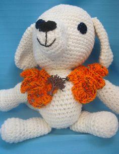 Pet Ruffle Collar Dog Cat Halloween Orange Medium Handmade Crochet by Bren by HandCraftedByBren on Etsy