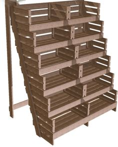 Rustic Wood Retail Store Product Display Fixtures & Shelving - Grocery, Farm Market & Produce Displays