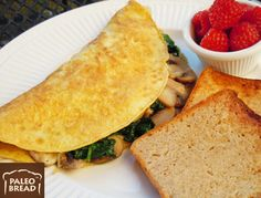 Paleo Low Carb Omelette With Paleo Coconut Bread™