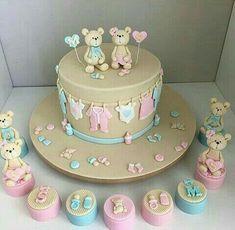 Boy or girl? Baby Cakes, Baby Reveal Cakes, Baby Gender Reveal Party, Baby Birthday Cakes, Girl Cakes, Cupcake Cakes, Tortas Baby Shower Niña, Torta Baby Shower, Baby Shower Cupcakes