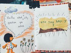 Question #1 Are You Happy, My Arts, Scrapbook, Journal, This Or That Questions, Scrapbooking, Guest Books, Scrapbooks