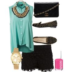 Black, gold, & turquoise!