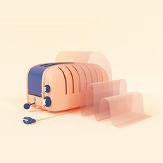 Glassy toast 3D Modelos 3d, Cinema 4d, Wooden Toys, 3 D, Toast, Instagram Posts, Artwork, Design, Wooden Toy Plans