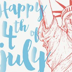 Happy 4th of July! Type and illustration designed by Watermark Design