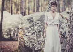 Laure de Sagazan // bespoke wedding dresses // bridal dress // lace // white