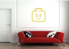 Construcción ladrillo Lego arte habitación por bigmammastickerstore