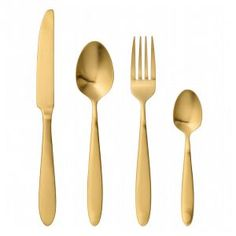Gold Plated set of 4 Cutlery Set