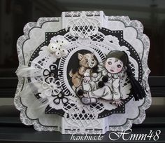 Cardmaking, Minnie Mouse, Scrap, Pierrot, Greeting Cards, Make It Yourself, Clowns, Disney Characters, Birthday