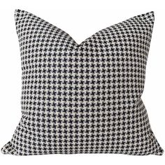 Black White Toss Pillow, Houndstooth Pillow Covers, Plaid, Cream Black... ($29) ❤ liked on Polyvore featuring home, home decor, throw pillows, pillow, throw pillow, plaid home decor, black and white toss pillows, black and white home accessories, black white accent pillows and black accent pillows