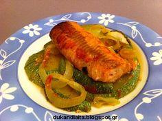 Όλα για τη δίαιτα Dukan Dukan Diet Recipes, Zucchini, Pork, Meat, Vegetables, Pork Roulade, Pigs, Veggies, Vegetable Recipes