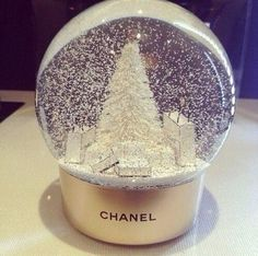Chanel snow globe for VIP customers❄ Christmas Is Coming, Winter Christmas, Christmas Time, Merry Christmas, Christmas Parties, Pink Christmas, Winter Holidays, Happy Holidays, Vintage Christmas