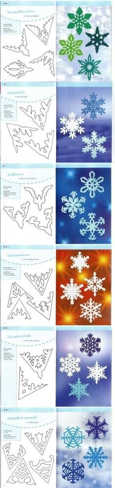 DIY Paper Schemes of Snowflakes DIY Paper Schemes of Snowflakes by TinyCarmen