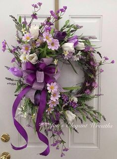 DIY Flower Projects – There is nothing quite like fresh flower arrangements for the house decoration. It does not only improve the house by its aesthetical aspect. Read MoreBest DIY Flower Projects with Simple Tools and Materials Purple Wreath, Tulip Wreath, Lavender Wreath, Wreath Crafts, Diy Wreath, Wreath Ideas, Burlap Wreaths, Grapevine Wreath, Easter Wreaths