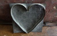 Unusually Large 19th Century Heart Cookie Cutter