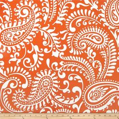 Premier Prints Walker Monarch from @fabricdotcom  Screen printed on cotton duck, this versatile medium-weight fabric is perfect for window accents (draperies, valances, curtains, and swags), accent pillows, duvet covers, and upholstery projects. Colors include burnt orange and white.