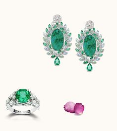 Piaget Rose Passion jewels with diamonds and emeralds