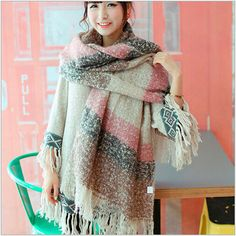 desigual plaid winter wool women cape scarf shawl and scarves 2015 women's clothing women tippet accessories fashion neckerchief