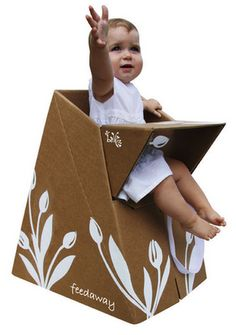 temporary baby storage... out of cardboard - interesting