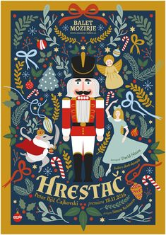 The Nutcracker poster design by Vesna Skornsek. The Nutcracker poster design by Vesna Skornsek. Christmas Design, Christmas Art, Christmas Decorations, Christmas Posters, Nutcracker Christmas, Christmas Graphics, White Christmas, Christmas Cookies, Magical Christmas