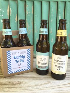 Pregnancy Announcement for Husband, Custom Beer Bottle Labels, First Time Dad Gift, Pregnancy Reveal Wine Label, First Father's Day Gift First Pregnancy Announcements, Pregnancy Announcement To Husband, First Time Dad Gifts, First Fathers Day Gifts, Presents For Dad, Gifts For Dad, Daddy Gifts, Parent Gifts, Xmas Gifts