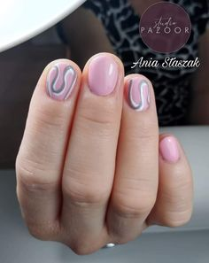 #nails #nailsinspiration #nails2inspire #nails2020 #pinknails #shortnails #paznokcie #krotkiepaznokcie #rozowepaznokcie #studiopazoor #abstractnails #abstraction #nailsbyania #inspiracjepaznokciowe #paznokciezaopuszek Nails, Finger Nails, Ongles, Nail, Nail Manicure