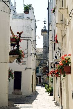 Street of Cisternino, Puglia, Italy