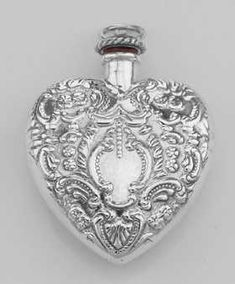 Classic Small Heart Perfume Bottle or Memorial Ash Pend