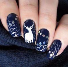 30 Inspiring Winter Nail Art Design Ideas