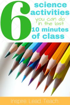 Is there anything worse than finishing your lesson a little too quickly? We've gotcha covered with 6 different activities that you can quickly whip out and use in the last ten minutes of class so that your students aren't running wild! Science Lessons, Teaching Science, Science Activities, Activities For Kids, Science Ideas, Science Notebooks, Differentiated Instruction, Teaching Methods, Ten Minutes