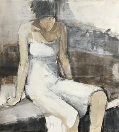 """Girls In White Dresses II"" 36 x 33 Figure Painting, Figure Drawing, Painting & Drawing, Art Abstrait, Portrait Art, Oeuvre D'art, Figurative Art, Painting Inspiration, Watercolor Art"