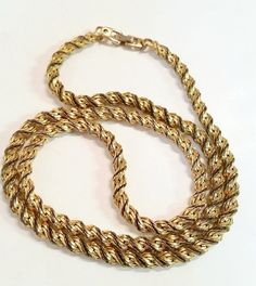 Vintage Thick Gold Long Chain Necklace by DesiredSimplicity #necklace #vintage #costumejewelry