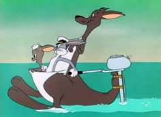 No time to explain. Get in the kangaroo. [Animated GIF]