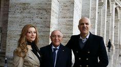 Marco Eugenio Di Giandomenico, Domenico Piccolo e Antonella Salvucci (Roma, novembre 2013)