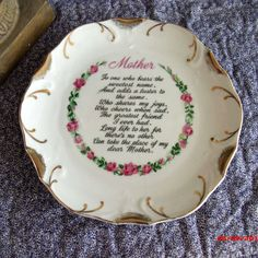 Vintage Plate Handpainted Roses Tribute to by SweetRepeatVintage, $4.95
