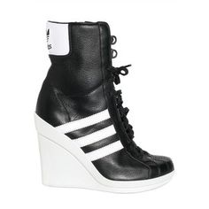dca02aa505db Adidas Originals By Originals 90mm Jeremy Scott Leather Sneaker Wedges High  Heel Sneakers