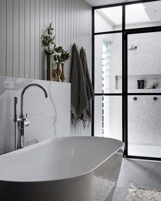 Contemporary bathrooms look clean cut and fresh, always with stylish details too, to pull the finishing look together. Modern contemporary bathrooms can. Contemporary Bathrooms, Modern Bathroom Design, Bathroom Interior Design, Home Interior, Bath Design, Modern Design, Modern Bathtub, Modern Sink, Bathroom Designs