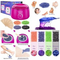 Hair Removal Wax Warmer Kit Wax Beans+Applicator Sticks FOR Sensitive Skin #Esarora