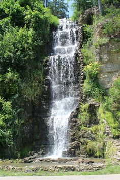 Krape Park, Freeport Illinois This is the waterfall flowing off Flagstaff hill. You get to drive right beside on your way up to Flagstaff Hill.