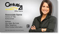Century 21 Realtor Business Cards Ideas