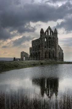 Whitby, Yorkshire, UK Moody Monastery (by simonGman)… Abandoned Churches, Abandoned Mansions, Abandoned Places, Whitby Abbey, Abandoned Amusement Parks, Gothic Architecture, Haunted Places, Haunted Castles, Old Buildings