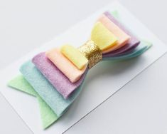 Pastel rainbow bow headband or hair clip - cake smash photo props for girls - large hair bows for toddlers - rainbow hair bow - Easter bows Pastel Rainbow Hair, Rainbow Bow, Rainbow Headband, White Rainbow, Colorful Hair, Making Hair Bows, Diy Hair Bows, Tiaras Vintage, Felt Hair Accessories