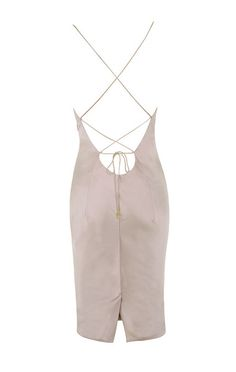 f1cf82eed751 Clothing : Bodycon Dresses : 'Alette' Champagne Satin Cowl Back Dress