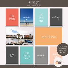 Free On This Day Photo Templates from Designed by Soco {August 2016 DigiScrap Parade}