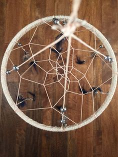 Dreamcatcher Mobile: Navy/Neutral Pheasant/Silver Bead