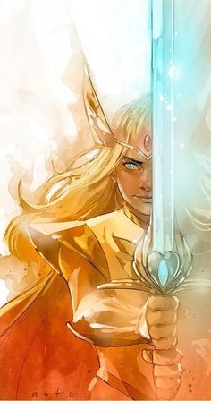 She-Ra - Princess of Power by Phil Noto * Fanart, Phil Noto, Deku Anime, Last Unicorn, She Ra Princess Of Power, Film Serie, Magical Girl, Animes Wallpapers, Cool Art