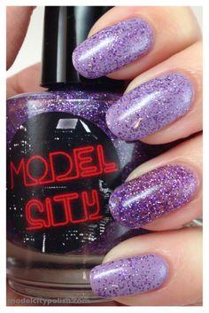 Model City Polish Amethyst alone and over Avon Loving Lavender