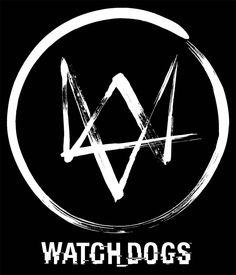 """Camiseta Watch Dogs. Logo Bonita camiseta en color negro del logo fabricada 100% en algodón parecido a una """"W"""" perteneciente al protagonista Aiden Pearce el hacker visto en el videojuego Watch Dogs."""